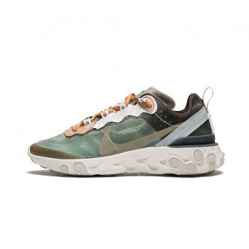 """UNDERCOVER X NIKE REACT ELEMENT 87 """"GREEN MIST"""" SHOES COLLECTION BQ2718-300"""