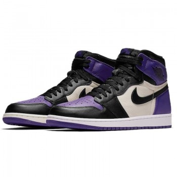 "Air Jordan 1 Retro High OG ""Court Purple Sail Black"" For Sale Mens Wmns GS Size 555088-501"
