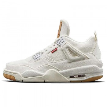 "Levi's x Air Jordan 4 Retro ""White Denim"" AO2571-100"