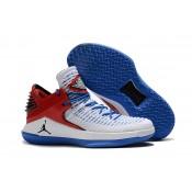 Air Jordan 32 XXXII Low White/Blue/Red