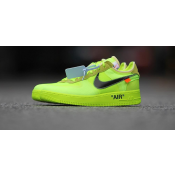"""OFF-WHITE X NIKE AIR FORCE 1 LOW """"VOLT"""" GREEN RELEASE DATE AO4606-700"""
