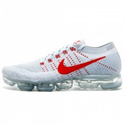 NIKE AIR VAPORMAX FLYKNIT PURE PLATINUM/UNIVERSITY RED