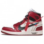 "OFF-WHITE X AIR JORDAN 1 ""CHICAGO"" MENS GS AA3834-101"
