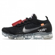 OFF-WHITE X NIKE AIR VAPORMAX /BLACK/ORANGE/CLEAR AA3831-002