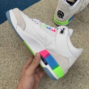 "AIR JORDAN 3 ""QUAI 54"" WHITE Q54 FOR SALE ON FEET REVIEW RELEASE AT9195-111"
