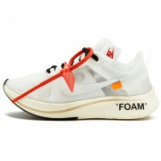 "OFF-WHITE X NIKE ZOOM FLY ""WHITE/WHITE-MUSLIN"""