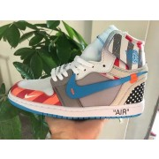 PARRA X OFF-WHITE X AIR JORDAN 1 CUSTOMIZE SHOES CUSTOM MADE JORDANS