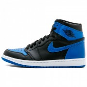 "AIR JORDAN1 ""FLYKNIT"" BLACK/ROYAL BLUE 555088-007"