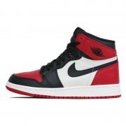"Air Jordan 1 ""Bred Toe"" Womens GS ""Red and Black Jordans"" Shoes 575441-610"