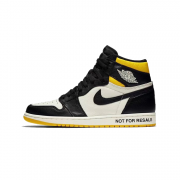 "Air Jordan 1 ""NO L'S"" Not For Resale Black/Yellow For Sale 861428-107"