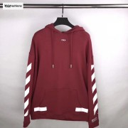 OFF WHITE Red Diag Arrow Hoodie