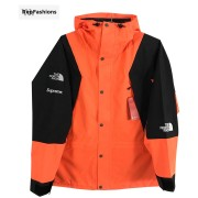 Supreme The North Face Mountain Light Orange Jacket