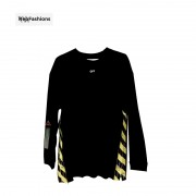 Off White Side Tape Yellow Hoodie Sweatshirt