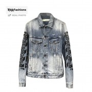 Off White Slim Denim Jacket