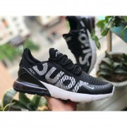 SUPREME X NIKE AIR MAX 270 BLACK WHITE AH8050-011