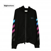 Off White Gradient Zipped Up Hoodie 18FW