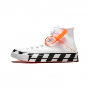 "OFF-WHITE X CONVERSE CHUCK 70 ""STRIPE / WHITE"" HIGH TOPS SHOES 163862C"