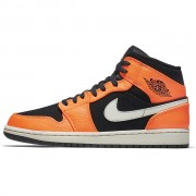 Shattered Backboard Air Jordan 1 Mid Black Orange Peel 554724-062