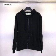 Off White Side Tape Striped Zip Up Hoodie 18FW