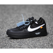 """OFF-WHITE X NIKE AIR FORCE 1 LOW """"BLACK/WHITE"""" SHOES AO4606-001"""