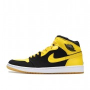 Air Jordan 1 Mid New Love 2017 Black And Yellow 136085-072
