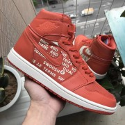 "Air Jordan 1 ""Nike Swoosh"" Orange Off-White Sample Style 555088-800"