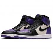 """Air Jordan 1 Retro High OG """"Court Purple Sail Black"""" For Sale Mens Wmns GS Size 555088-501"""
