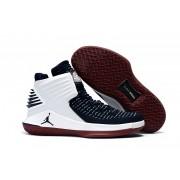 Air Jordan 32 XXXII White/Deep Blue/Red
