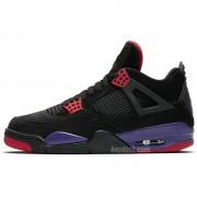 "Air Jordan Retro 4 ""Raptors"" Black Purple Shoes For Sale AQ3816-065"