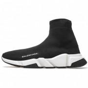 BALENCIAGA SHOES LIKE SOCKS HIGH TOP SPEED RUNNERS BLACK/WHITE 494371W05G0