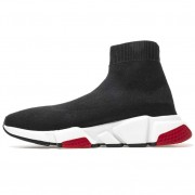 BALENCIAGA SHOES LIKE SOCKS OUTFIT HIGH TOP RUNNERS BLACK/RED 483397W05G0