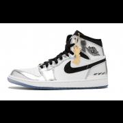 """Kawhi Leonard's Air Jordan 1 Silver High Think 16 """"Pass The Torch"""" AJ1 For Sale AQ7476-016"""