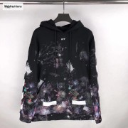 Off White Galaxy Brushed Hoodie