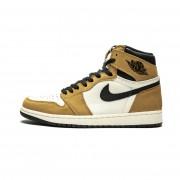 "Air Jordan 1 Retro High OG ""Wheat"" AJ1 White Black And Yellow/Gold 555088-700"