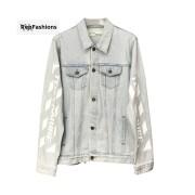 Off White Temperature Denim Caban Jacket
