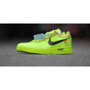 "OFF-WHITE X NIKE AIR FORCE 1 LOW ""VOLT"" GREEN RELEASE DATE AO4606-700"