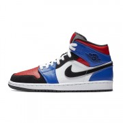 "AIR JORDAN 1 MID GS ""TOP 3"" RED/BLUE/WHITE/BLACK 554725-124"