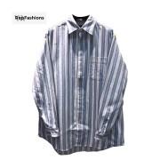 BLCG Power Of Dreams Patch Blue Striped Denim Shirt